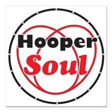 "Red Soul Square Car Magnet 3"" x 3"""