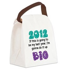 2012 white shirt Canvas Lunch Bag