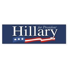 Hillary for President Poster Bumper Car Sticker