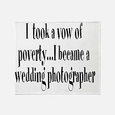 B_wedding_photog Throw Blanket