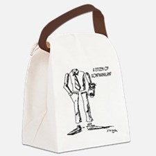 1124_geography_cartoon Canvas Lunch Bag