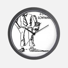 1124_geography_cartoon Wall Clock