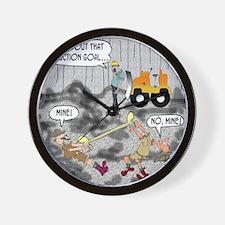 8424_quarry_cartoon Wall Clock