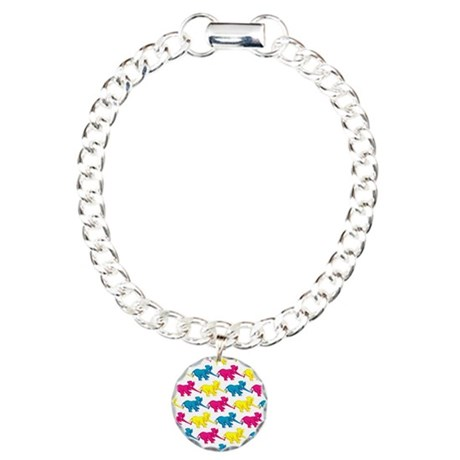 elephant_tug_butt_1 Charm Bracelet, One Charm