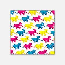 """elephant_tug_butt_1 Square Sticker 3"""" x 3"""""""