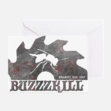 Buzzzkill - Disc Golf - Birdshot Greeting Card