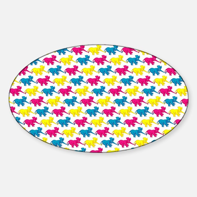 elephant_tug_shouldbag Sticker (Oval)