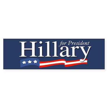 Hillary for President Poster Bumper Sticker