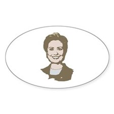 Hillary Clinton 2008 Oval Decal