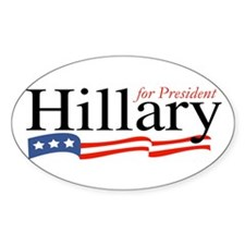 Hillary for President Sign Oval Decal