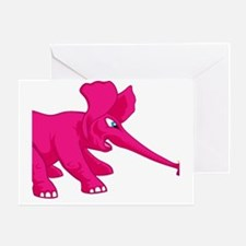 elephant_tug_butt_solpink Greeting Card