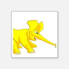 "elephant_tug_butt_solyell Square Sticker 3"" x 3"""