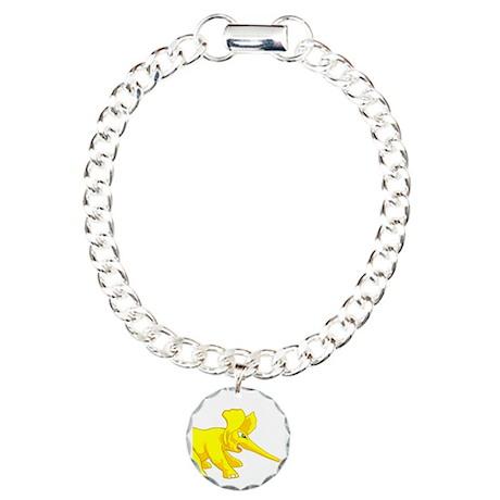 elephant_tug_butt_solyel Charm Bracelet, One Charm