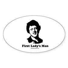 First Lady's Man Oval Decal