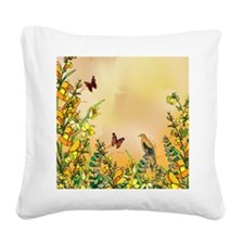 yellowflipflop Square Canvas Pillow