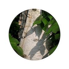 """White Birch Bark 3.5"""" Button"""