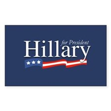 Hillary for President Poster Rectangle Decal
