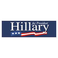 Hillary for President Poster Bumper Car Sticker