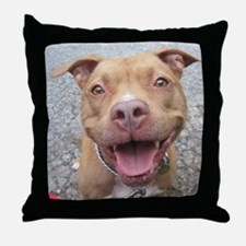 Bailey Smiley-Card Throw Pillow