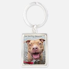 Bailey Smiley-Card Portrait Keychain