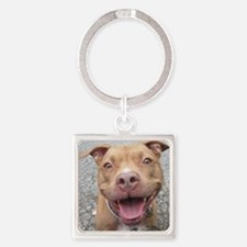 Bailey Smiley-Card Square Keychain
