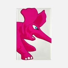 elephant_tug_keych_PinkF Rectangle Magnet