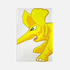 elephant_tug_keych_YellB Rectangle Magnet