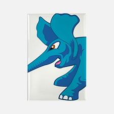 elephant_tug_keych_BlueB Rectangle Magnet