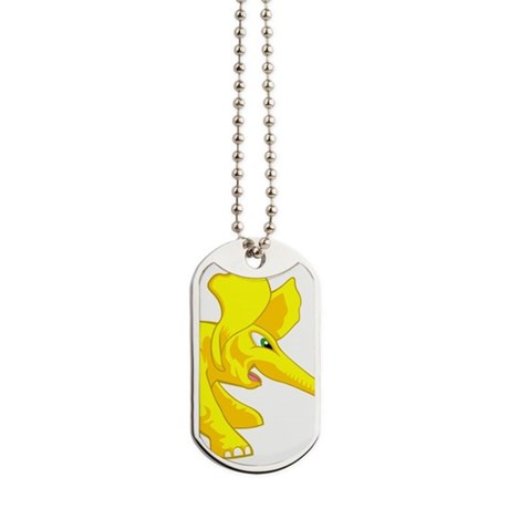 elephant_tug_keych_YellF Dog Tags