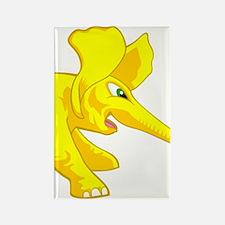 elephant_tug_keych_YellF Rectangle Magnet