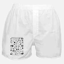 animal tracks poster 8 5 by 11 Boxer Shorts