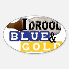 blue  gold.gif Sticker (Oval)