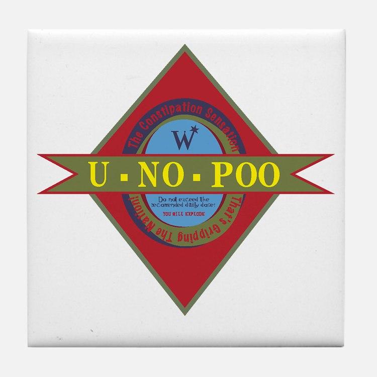 U-No_Poo_01 Tile Coaster