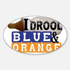 blue  orange.gif Sticker (Oval)