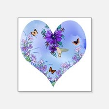 "Blueheart Square Sticker 3"" x 3"""