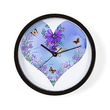 Blueheart Wall Clock