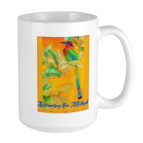 Drawing the Motmot Large Mug