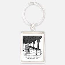 1818_forestry_cartoon Portrait Keychain