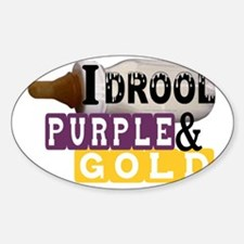 purple  gold.gif Sticker (Oval)