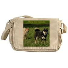 cal_shiba_cover Messenger Bag