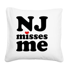 NJMM-bk Square Canvas Pillow