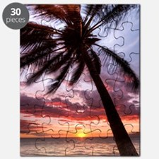 maui hawaii coconut palm tree sunset Puzzle