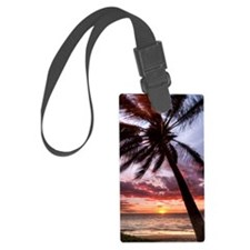 maui hawaii coconut palm tree su Luggage Tag