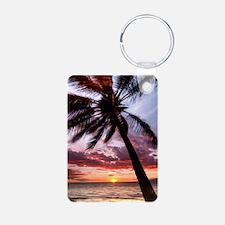 maui hawaii coconut palm t Keychains