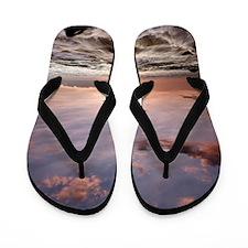 Hawaiian Sunset waves Flip Flops