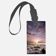 Hawaiian Sunset waves Luggage Tag