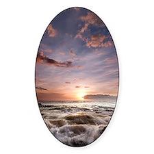Hawaiian Sunset waves Decal