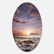 Hawaiian Sunset waves Sticker (Oval)