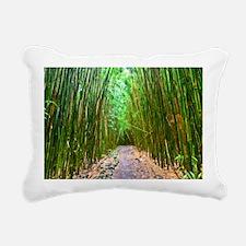 maui hana bamboo forest  Rectangular Canvas Pillow