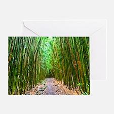 maui hana bamboo forest hike 2 Greeting Card